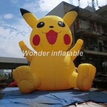 2017 Hot sale 6m giant inflatable pikachu pokemon for advertising