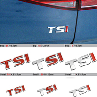 Car Styling TSI Metal Car Emblem Badge Sticker For Volkswagen VW Polo Golf 4 5 6