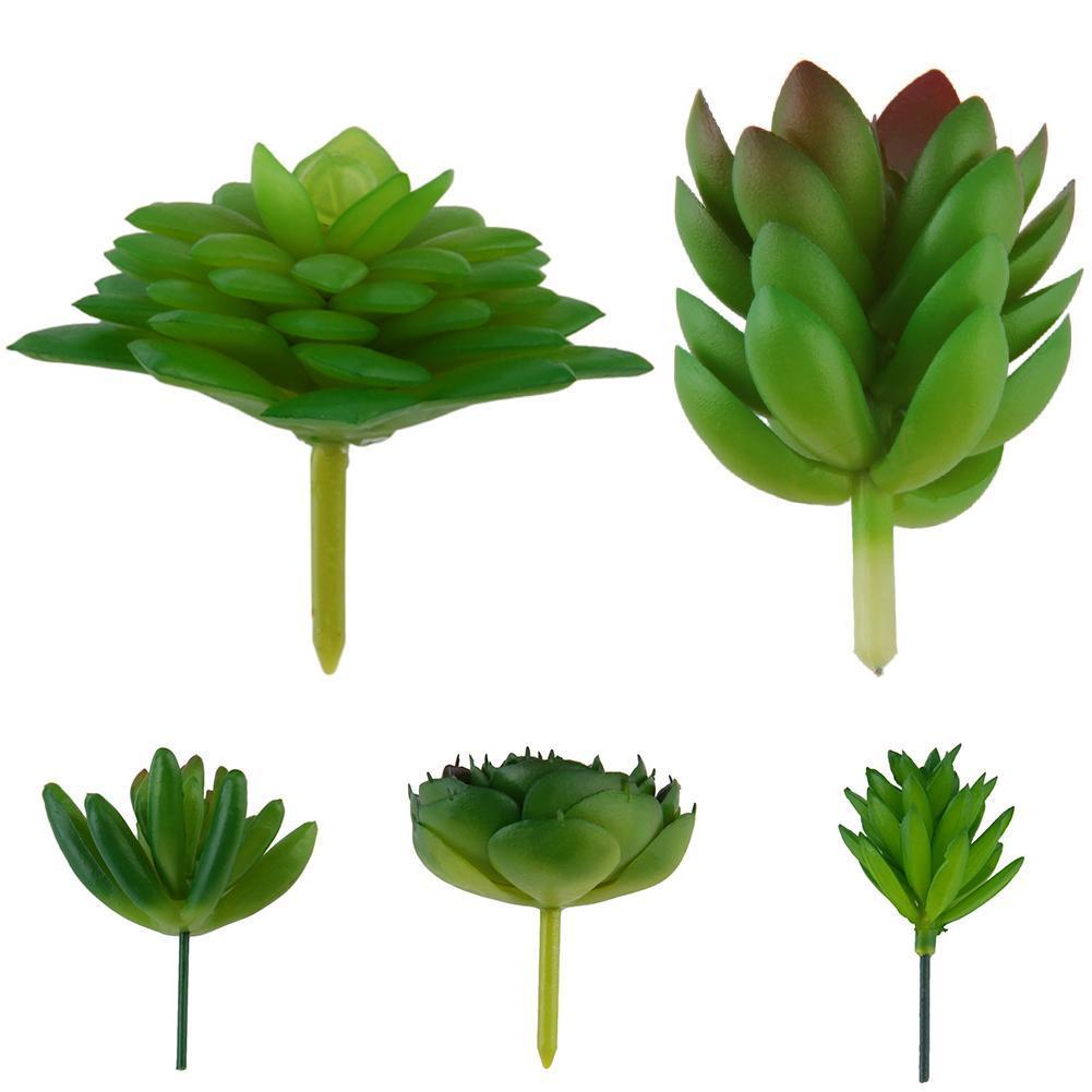 Mini Artificial Succulent Plant Plastic Flower Decoration Green Plant Art Garden Home Decor