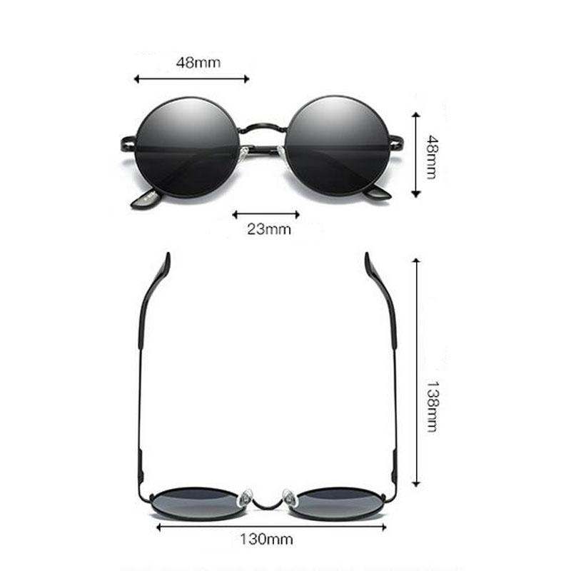 HTB1MOjbddrJ8KJjSspaq6xuKpXaa - FREE SHIPPING Polarized sunglasses vintage sunglass round sunglasses Black Lens JKP412