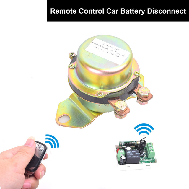DC 12V Automobile Car Battery Switch Disconnect Remote Kit Terminal Master Kill Latching Relay Electromagnetic Solenoid Valve