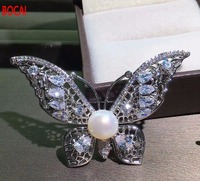 Early autumn new fund The National Day to send his girlfriend a gift Pure natural pearl brooches Pearl light full clean