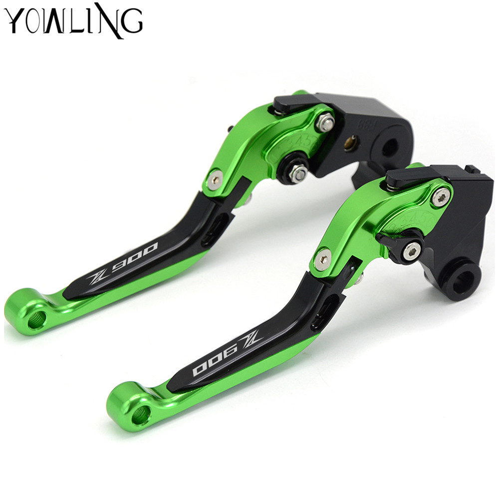 For Kawasaki Z900 Z 900 2017 Motorcycle CNC Adjustable Folding Extendable Brake Clutch Levers logo Z900 billet adjustable long folding brake clutch levers for kawasaki z750 z 750 2007 2008 2009 2010 2011 07 11 z800 z 800 2013 2014