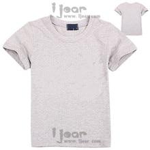 Розничный бренд пробелы дети футболка с коротким рукавом хлопок спортивные футболка 2-16Y мальчиков девочек одежда лето 2016 new kids одежда