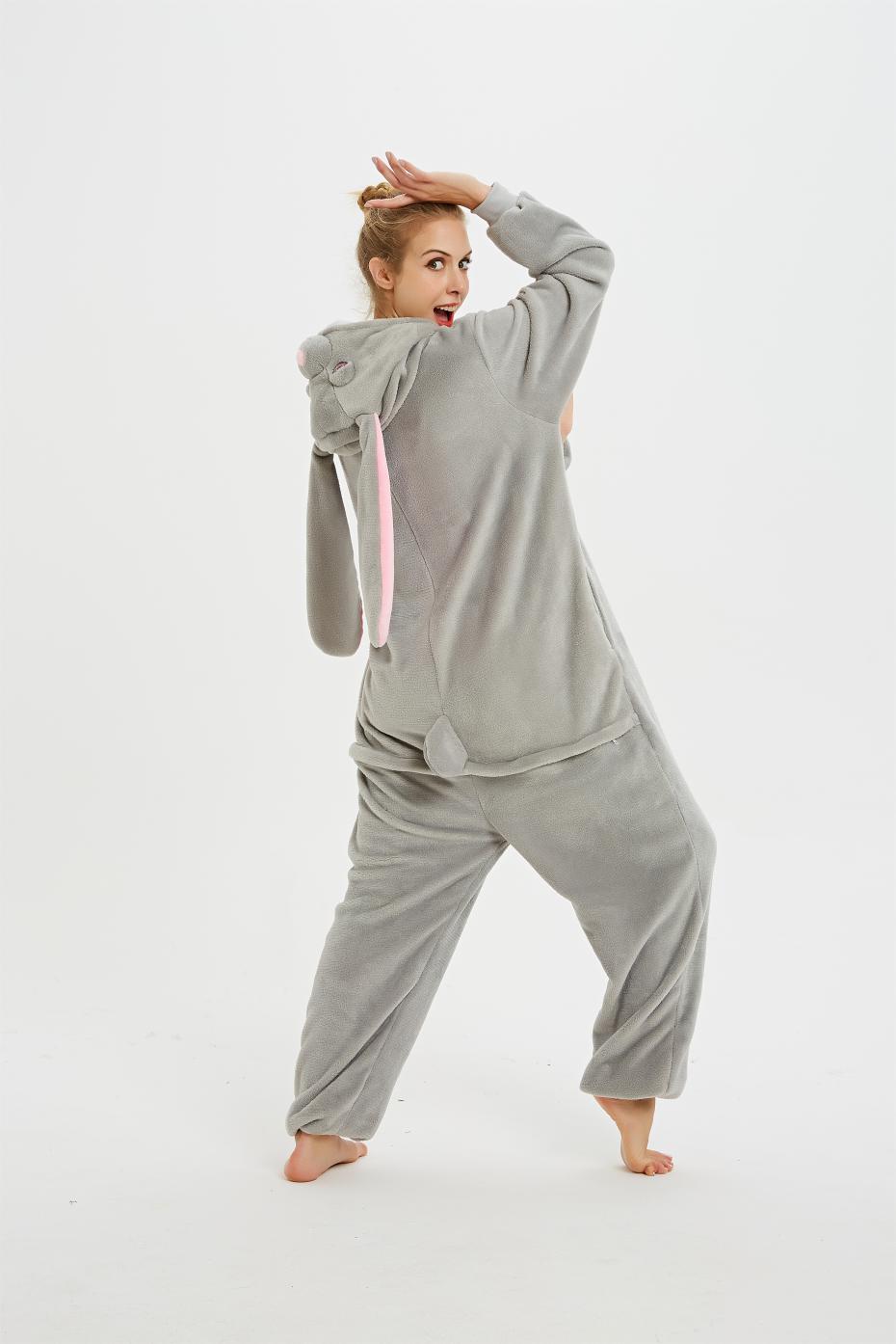 Image 3 - Adult Animal Pajamas Long Sleeve Sleepwear kigurumi All in One Pyjama Animal Suits Rabbit Garments Women Animal Cartoon Onesies-in Pajama Sets from Underwear & Sleepwears