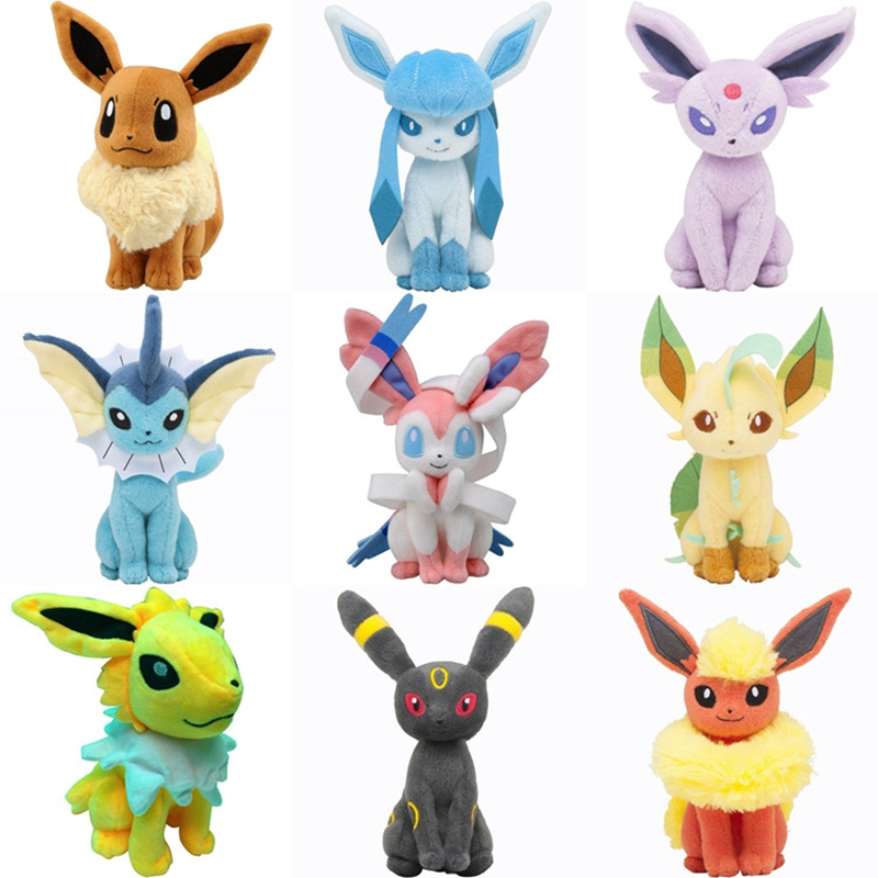 все цены на  2017 New Arrival Eevee Plush Toys Dolls Soft Stuffed Animals Anime Figure Kids Toys For Children Birthday Gift  онлайн