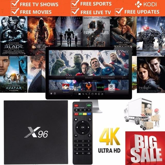 S905X X96 Android TV Box Amlogic Quad Core 2/16G Caja de la TV Inteligente 16.1 WIFI HDMI 2.0 4 K 2 K Smart Media A95X MX PRO Completamente Cargado NUEVO