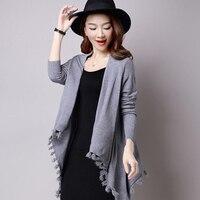 2017 Autumn New Women S Elegant Socialite Cashmere Tassel Cardigan Sweaters Batwing Sleeves Scarf Cape Outwear