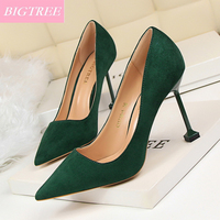BIGTREE Brand 2017 Women Stiletto 9 5cm High Heels Designer Classic Pumps Summer Fashion Party Luxury
