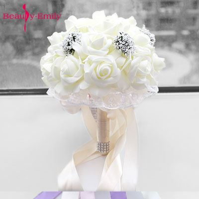 Beauty Emily 2018 Wedding Bride Holding Flower Bouquet Wedding Accessories