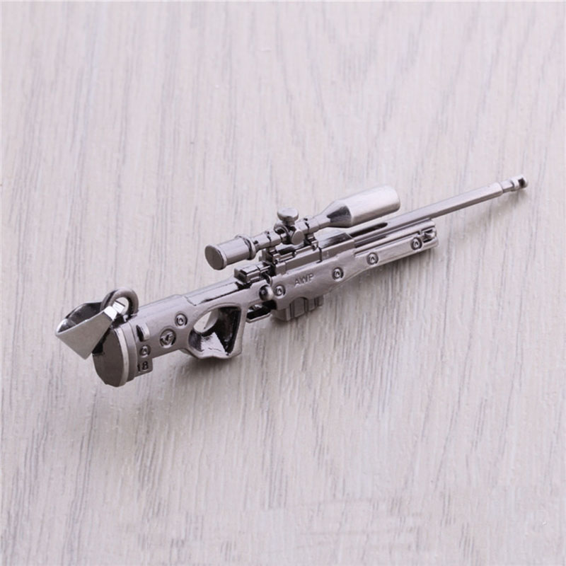 CS GO AMW AK47 Weapon Metal Necklaces Men Gun Leather Chain Neclace CSGO Collier Homme Male Neckless Best Friends M9 Jewelry
