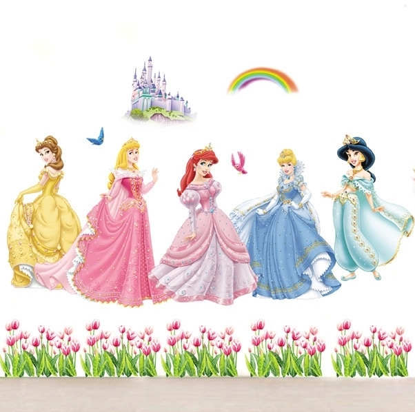 Online buy wholesale door height from china door height for Barbie princess giant wall mural