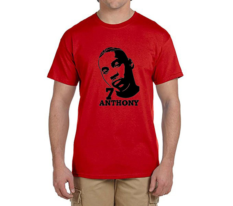 2017 Carmelo Anthony men t shirt Cotton round collar short sleeve T-shirt mens t shirts fashion for fans 0227-11