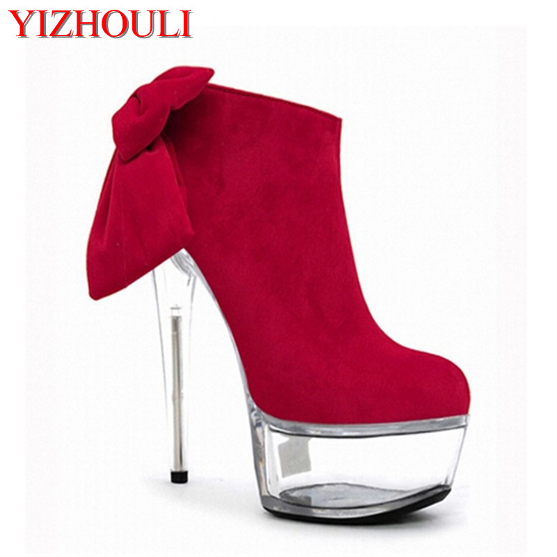 New ultra high heel women's shoes, 15cm high water table bride's shoes, new large size crystal and dancing shoes 15cm club shoes big star with steel tube dancing shoes 34 and 46 yards high with the lacquer that bake single crystal shoes