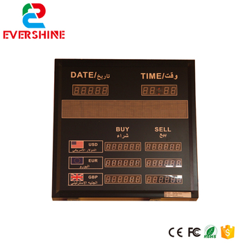 """7 dígito de segmento dinero Precio lista led uso para banco/hotel/aeropuerto de 1,0 """"1,2"""" 1,5 """"led placa electrónica"""