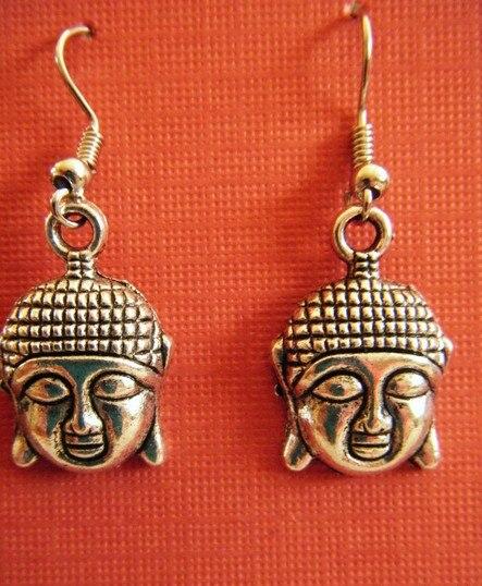 65e28ff0c0715 50 Pair Vintage Silvers Encantos Cabeça de Buddha Pingentes Brincos Gota  Dangle Brincos Para Mulheres Presentes Jóias Acessórios P778