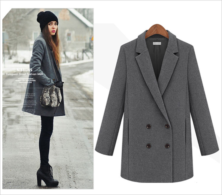 Collection Grey Wool Coat Womens Pictures - Reikian