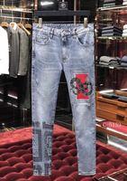 Модные Для мужчин джинсы 2019 взлетно посадочной полосы роскошь известный бренд Европейский дизайн вечерние стиль Мужская одежда WD0426