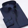 2017 Мода Мужские Рубашки в Полоску С Длинным Рукавом Плюс Размер 5XL 6XL 7XL 8XL Мужчины Платье Рубашки Высокого качества Случайные Социальные Мужской Рубашки