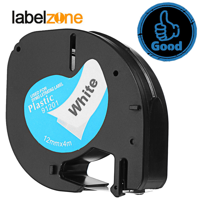 labelzone 12mm 91201 Compatible Dymo LetraTag label Tapes 12267 91200 91202 91203