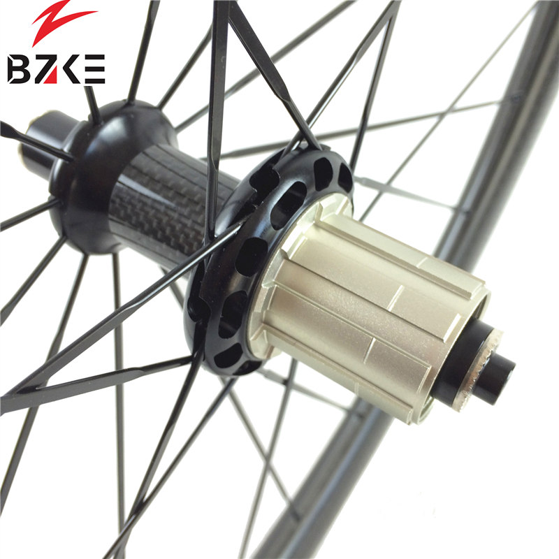 BZKE carbon wheel for road bike 700c racing bike carbon wheels 45mm depth tubeless carbon rim R36 hubs road bicycle wheelset