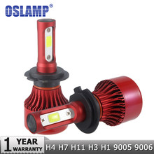 Oslamp H4 LED Headlights H7 LED H1 H3 9005 9006 COB Chips Auto Headlamps 6500K/4300K H8/H9/H11 LED Car Light Bulbs 60W 7000lm(China)