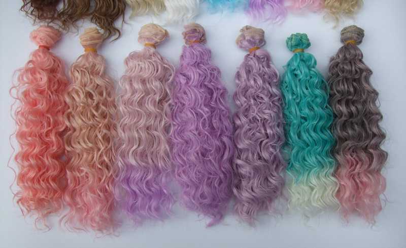 Diy Curly Doll Wigs High Temperature Heat Resistant Doll Hair For 1/3 1/4 1/6 Bjd 15cm Dolls & Stuffed Toys Dolls Accessories