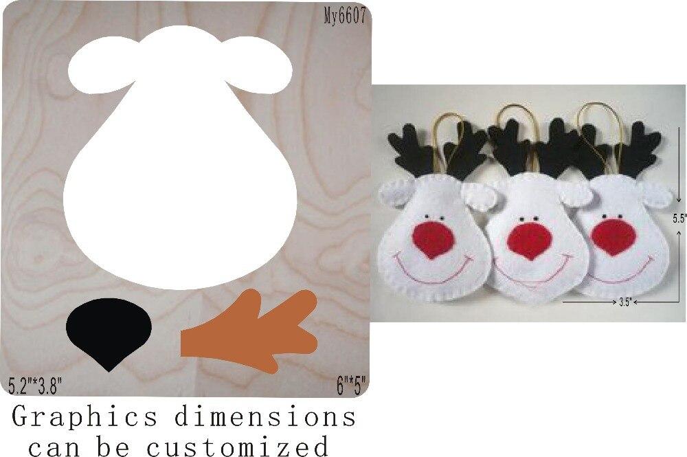 Christmas Deer-1 Die Cut Accessories Wooden Die  Regola Acciaio Die Misura ,   MY
