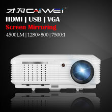 Screen Mirroring HD Home Smartphone Night Projection Movie Party Theater Cinema Backyard LED Projector LED 1080P Smart Beamer