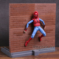 SHF S H Figuarts Spider Man Homecoming Spiderman Home Made Suit Ver PVC Action Figure Collectible