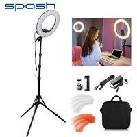 spash RL 12 LED Ring Light Circular Photography Lighting with Tripod 5500K CRI90 196 LEDs Camera Photo Studio Phone Video Lamp