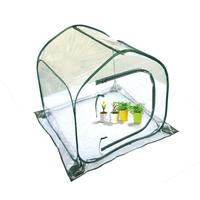Foldable PE Clip Mesh Cloth House Structure Greenhouse Greenhouse Transparent White Mini Flower Garden Cover
