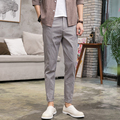 High Quality Mens Casual Pant Spring Summer New Men's Slim Fit Feet Pants Solid Color Street Fashion Hiphop Male Long Trousers