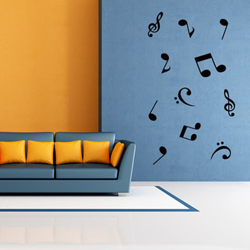 Mm69 Music Sticker Music Is My Life Theme Music Bedroom Decor Dancing Music Note Removable