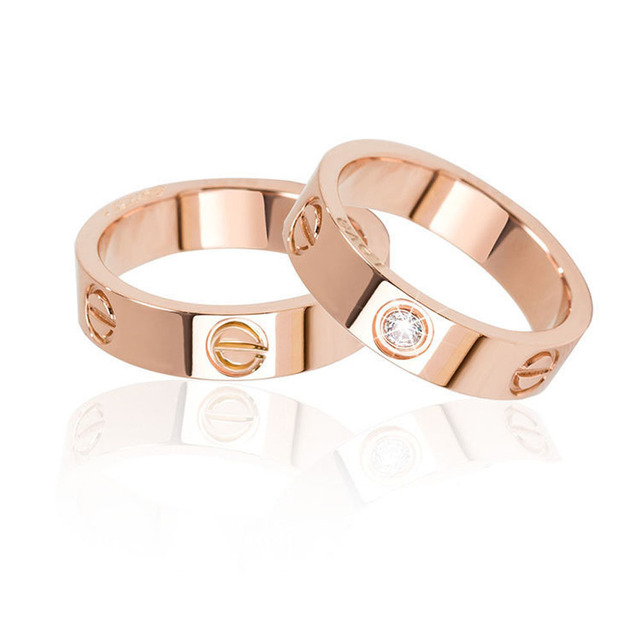 2017, Новая мода цвет серебристый, золотой палец кольцо ногтей кольцо для Для женщин Для мужчин Свадьба любовник Кольца Jewelry Рождественский подарок