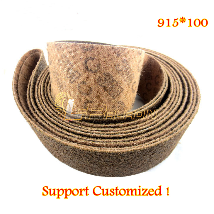 915 *100 mm Premium Quality P150 Non-woven Nylon Sisal Grinding Abrasive Sanding Belt Stainless Steel Striping