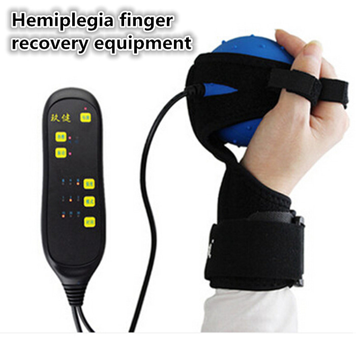 Hemiplegia Finger Recovery Fisioterapia Equipment Training Electric Hot Compress Massage with One Free World Travel Plug Adapter