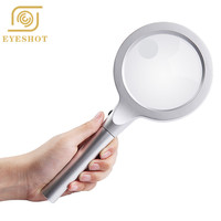 Hotsale Promotional Handheld Adjustable Light 10 20X 12 LED Magnifier For Reading Repair