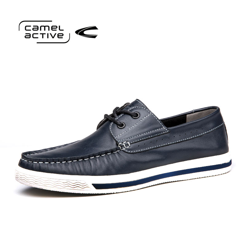 Camel Active Genuine Leather Men Shoes Fashion Spring/Autumn Comfortable Men Casual Shoes Men Breathable Flats Shoes 166572180 2015 new fashion british martin causal genuine leather men shoes brand camel men shoes real leather men flats casual shoes man
