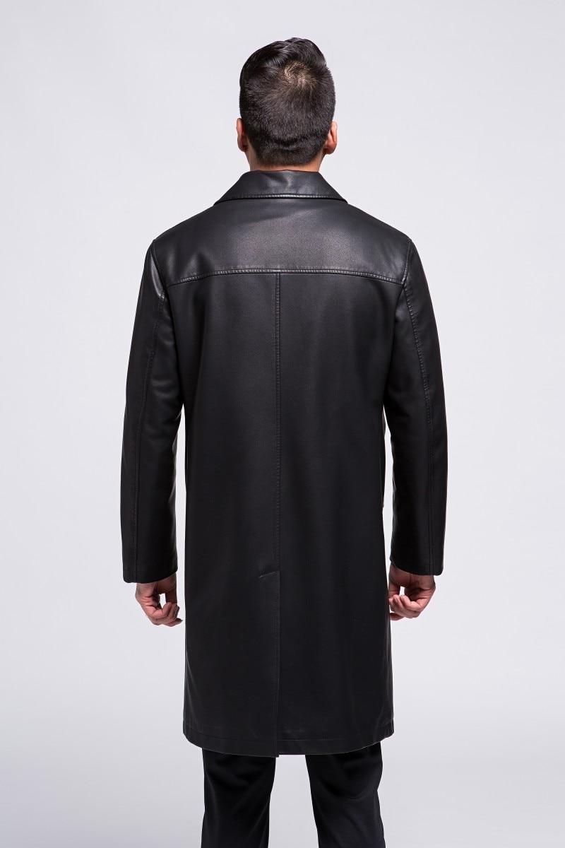 2e5091f83bf0 Homme Fourrure Trench Mouton Manteau Cuir De Hommes 809 Mode En Veste Long  Nouveau Noir Hiver Rz878vqw1