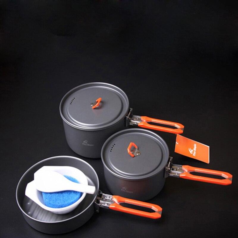 Fuego Arce 2-3 Persona Camping Pot Juegos de Cocinar Al Aire Libre de Picnic Oll