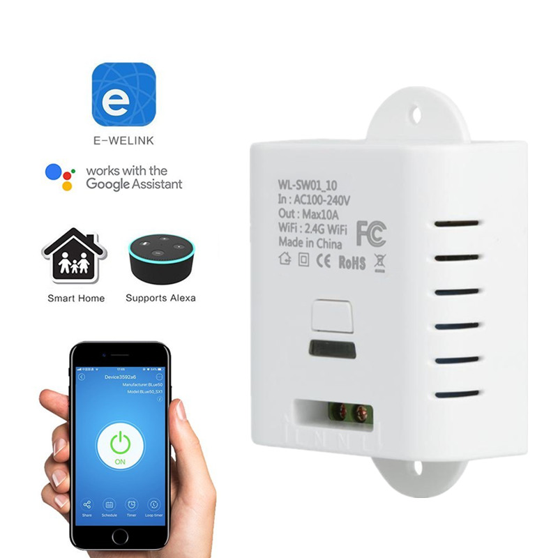 Wifi Switch Relay Universal DIY Module AC 220V 110v Wireless Wi-fi Light Timer Switch For Home Automation Smart Remote Control