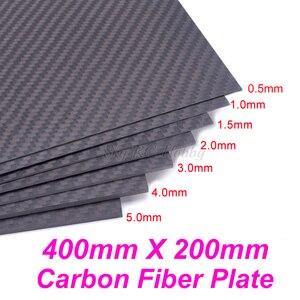 Image 1 - 400mm X 200mm gerçek karbon Fiber plaka paneli levha 0.5mm 1mm 1.5mm 2mm 3mm 4mm mm 5mm kalınlığında kompozit sertlik malzemesi RC