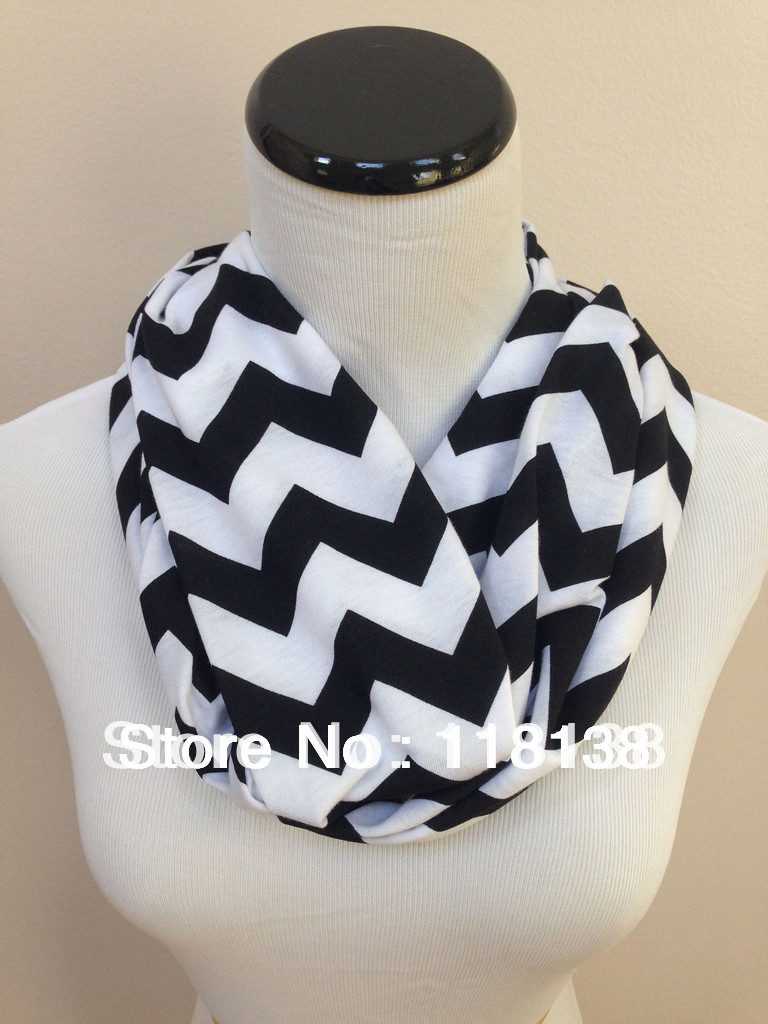 Infinity Scarf Jersey Or Chiffon Wolves Black /& White Fashion Loop Scarves