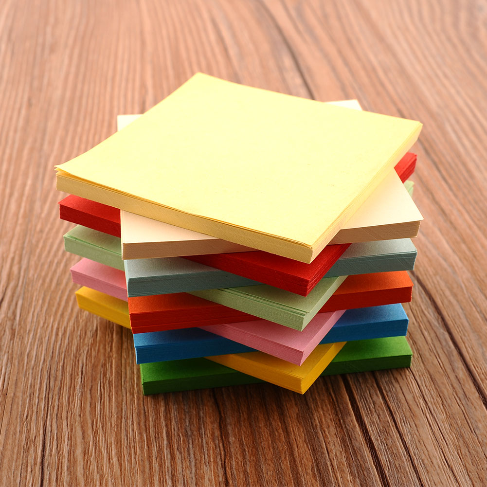 Double sided craft paper - 100pc Origami Square Hand Paper Double Sided Colorful Scrapbooking New 8cm China Mainland