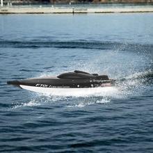 Feilun FT011 2.4G 55km / h Ātrgaitas RC laivu sacīkšu laiva ar ūdens dzesēšanu Pagriezta pašizlīdzināšanas funkcija Kuģa ātrgaitas rotaļlietas