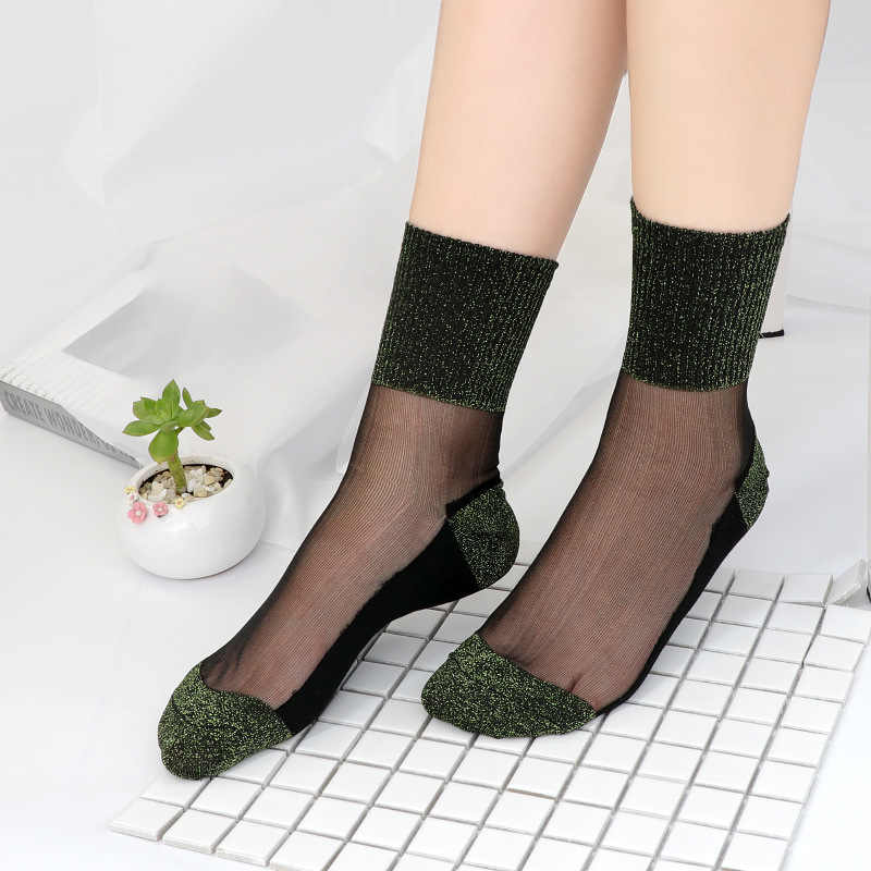 Sexy Kant Mesh zijden Visnet Sokken Fiber Transparante Stretch Elasticiteit Enkel Netto Garen Dunne Vrouwen Koele Sokken 1 paar = 2pcs TMD03
