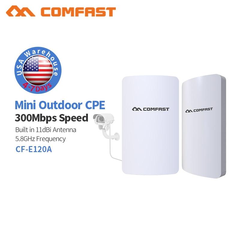 1-3km Comfast Long Range Wireless Outdoor Mini AP Bridge 5.8Ghz WiFI Access Point 11dbi Wi-fi Antenna CPE Client Router 6pc 3km long range outdoor cpe 5 8g wifi router 300mbps wireless outdoor wifi repeater access point antenna cpe ap bridge client