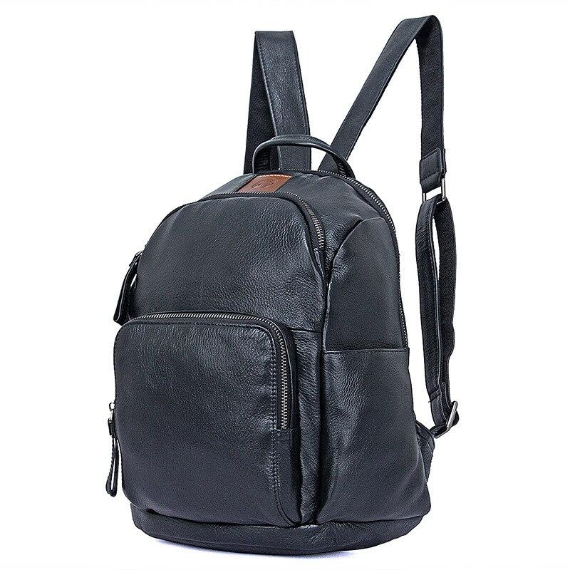 Nesitu Hohe Qualität Neue Mode Schwarz Erste Schicht Echt Haut Echtem Leder Frauen Rucksäcke Für Mädchen Weibliche Reisetaschen M2010-in Rucksäcke aus Gepäck & Taschen bei  Gruppe 1