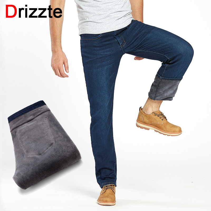 Fleece Lined Jeans Men